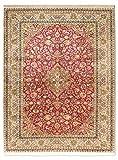 Morgenland Seidenteppich Kaschmir Reine Seide 218 x 157 cm Rot Handgeknüpft