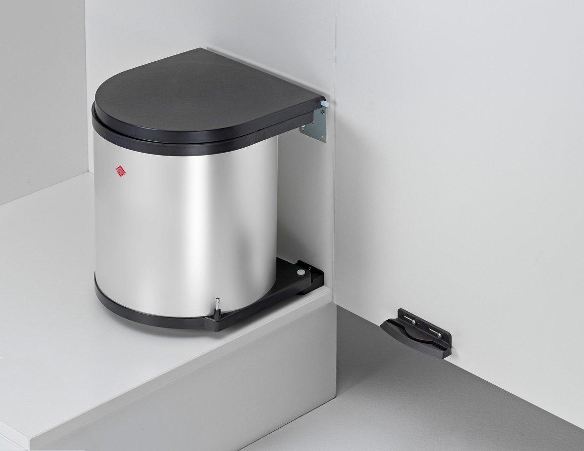 Schön Einbauabfallsammler Rund In SILBER 11 Liter Fassungsvermögen Ab 40 M  Schrankbreite: Amazon.de: Küche U0026 Haushalt