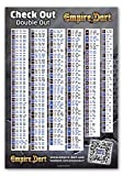 Empire Dart Poster Check Out - Double Out Tabelle, DIN A1