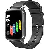 Tanzato Smartwatch,Reloj Inteligente con Pulsómetro,Cronómetros,Monitor de Sueño,Podómetro Monitores de Actividad Impermeable