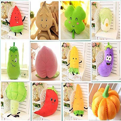 Top-Qualität 3D Gemüse Obst Sofa Kissen waschbar Plüsch Sitzkissen Pflanzen Cushion (erdbeere) (Pick In Plüsch)