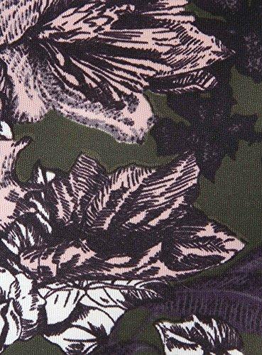 oodji Ultra Femme Robe en Maille Imprimée Vert (254BF)