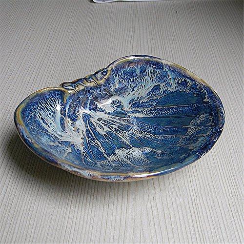 Einfache Art und Weise die Persönlichkeit handgefertigte Clam shell design Keramik Aschenbecher kleiner Teller (überdachte Kunststoff-teller)