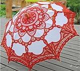 ankko Western Style Romantischer Spitze Hochzeit Sonnenschirm Foto Requisiten Kostüm Regenschirm Regenschirm, weiß