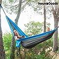 GKA Hängematte für 1 bis 2 Personen Doppelhängematte Camping Garten Terrasse im Beutel 270 cm x 140 cm bis 180 kg aus Fallschirmstoff von innovagoods - Gartenmöbel von Du und Dein Garten