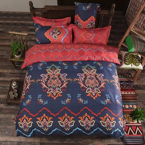 Boho Bedding Sets, Stillshine Elegant Bohemian Style Lightweight Microfiber Duvet Covers Sets, Single, 150x200CM, Style #
