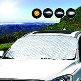 LEMESO Auto Frontscheibenabdeckung Sommer Windschutzscheibenabdeckung Sonnen Hitzeschutz UV-Schutz Scheibenschutz Abdeckung