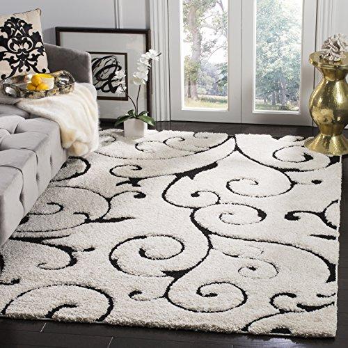 Safavieh Florida Shag Collection sg455–1111creme Bereich Teppich, 2Füßen, 7,6cm von 4Füße (2'7,6cm X 4') Modern 3'3