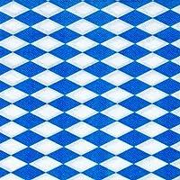 PAPSTAR Servietten/Tissueservietten bayrisch blau (100 Stück) 1-lagig, 1/4-Falz, 33 x 33 cm, für Gastronomie oder Feste, für bayrische Spezialitäten, 11121