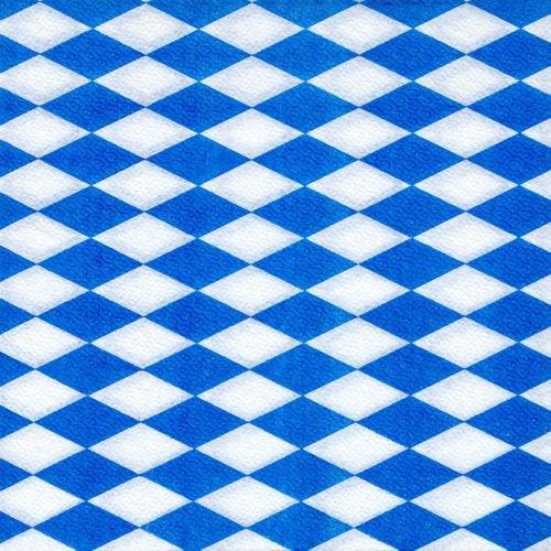 Papstar Servietten / Tissueservietten bayrisch blau (100 Stück) 1-lagig, 1/4-Falz, 33 x 33 cm, für Gastronomie oder Feste, für bayrische Spezialitäten, #11121 (100 Papier Servietten)
