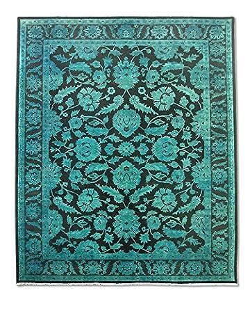 Chobi Handmade Over-Dyed Rug, Wool, Light Green, 253 X 300 cm, 8' 3