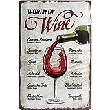 Nostalgic-Art 22265, Open Bar, World of Wine, Plaque de 20x 30cm
