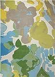 Belebender Esprit Marken Teppich, hochwertig im zeitlosen Design in knalligen Farben, Spring Flower (160 x 230 cm, grün/blau/gelb/braun)