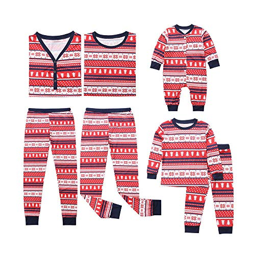 Ansenesna Weihnachten Familien Outfit Pyjama Mutter Vater Kind Baby Soft Elegant Baumwolle Kleidung Set Kostüm (100, Kinder) (Mama Tochter Kostüm)