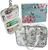"Makeup Bag By Bella & Bear, The ""Glam"" Make up Bag Features 4 Clear Zipped Pockets And A Handy Hook For Ease of Hanging. Makes A Great Xmas Gift Idea For Her"