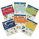 Boxclever Press Busy Days Lot Géant de Stickers Planner & Agenda. 6 livrets de 6 Pages avec 1313 Autocollants Pense-bêtes Total. Vacances, Amis & Famille, Événements, Occasions, Planification, Formes