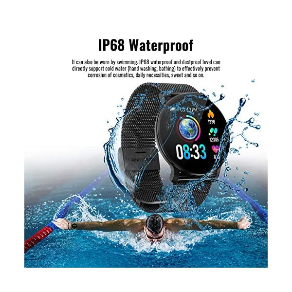 TagoBee TB11 Smartwatch Bluetooth IP68 Pulsera Inteligente Impermeable Reloj Movil HD Touch Screen Fitness Tracker Compatible con Android y iOS para Hombres Mujeres 6