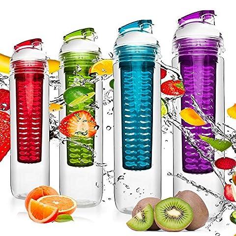 Lot De Gourdes - 4x gourdes 800 ml »FruitBottle« pour les