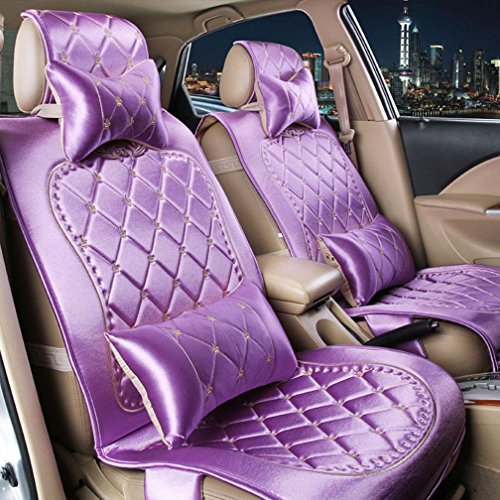 YL Vier Jahreszeiten Stoff Tag Seide Auto Kissen Sitzbezug , Lavender,lavender