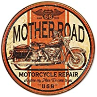 Mother Road Motorcycle Repair Tin Sign 12 x 12in by Dpnamron