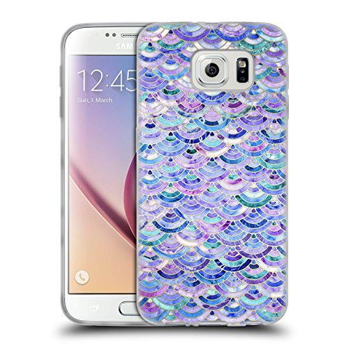 Offizielle Micklyn Le Feuvre Mosaik Und Amethyst Und Lapislazuli Marmor Muster Soft Gel Hülle für Samsung Galaxy S6