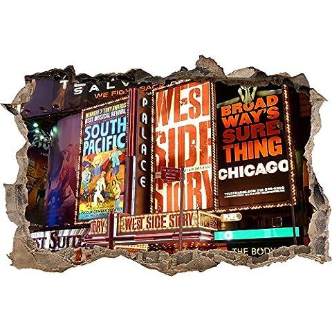 eccezionale programma di sfondamento della parete del leggendario Broadway nel look 3D, parete o in (Broadway Sala Da Pranzo)