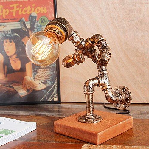 Pumpink Industrie Vintage Roboter Tischleuchte American Retro Eisen Kunst Wasser Rohr Schreibtischlampe Kreative Designer Desktop Licht Leselampe für Cafe Studie Schlafzimmer - Industrie-designer