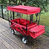 Gartenwagen Bollerwagen Transportwagen Faltbar Klappbar Transportkarre mit abnehmbaren Dach und Tasche