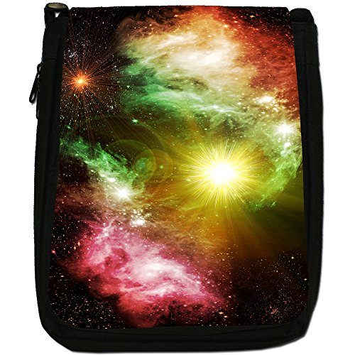 Esplorazione Spaziale Medium Nero Borsa In Tela, taglia M Stars Of A Planet
