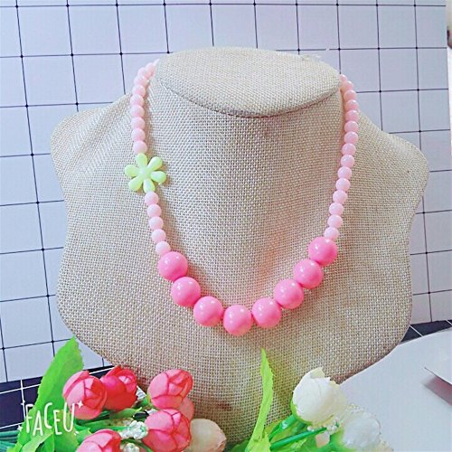 Mode Little Girl Flower Pearl Simulierte Halskette Schmuck -