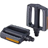"""BBB Cycling City Bike Pedals Flat 9/16"""" with Reflectors Anti-Slip Rubber for All Bicycle's SteadyRider BPD-44 Steady…"""