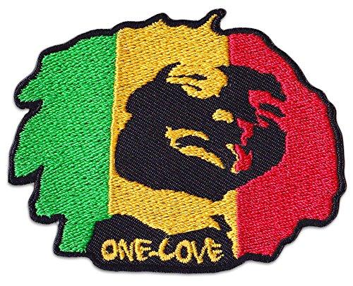 One Love parche planchar Patch Jamaica Reggae raggamuffin