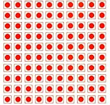 #9: IMPRINT 140 Non Veg Round Stickers Red Dot with Red Border