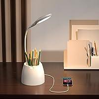 AMANKA Lampe de bureau LED, Lampe de bureau sans fil éclairage de bureau rechargeable et dimmable, 3 modes avec batterie…