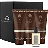 The Man Company Coffee Clean Up Face Care Kit for Men with Caffeine Face Wash, Face Scrub, Moisturizer & Talc Perfume | Purif
