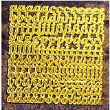 Wachsbuchstaben Kleinbuchstaben in Gold