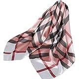 Ecroon Fulares Pañuelos para la cabeza Bufandas Pañuelo de Cuadrado para Mujer