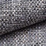 NOVELY® LANZ Premium Möbelstoff | Schwerer Webcharakter | grob Gewebter Polsterstoff | Meterware | Struktur-Stoff | 15 Farben (05 Grau)