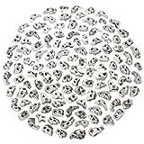ALPIDEX 120 Klettergriffe Größe XS - als Tritte oder für Fortgeschrittene, Farbe:weiß-meliert