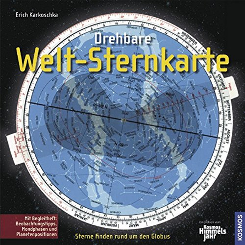 Drehbare Welt-Sternkarte: Für den nördlichen und südlichen Sternenhimmel