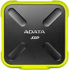 Adata SD700 512GB External SSD, Pocket Size, Military Grate Shockproof, Dustproof IP6X Standard (512GB, Green)