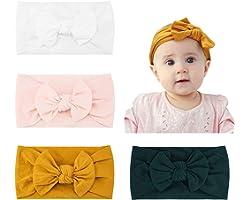 Makone Bébé Bandeaux, Super Soft Stretchy Knot Bébé Turban, Multicolore Hairband pour Bébé Nouveau-né Filles, Bande de Cheveu
