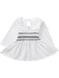 K-youth Moda Vestido Niña Ropa Bebé Recién Nacido Niña Mangas Largas Dot Bowknot Vestidos