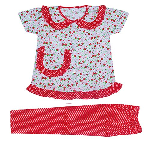Light Gear Girls Knitted Cotton Sleepwear / Homewear (2 - 10 yrs) (2-3 years, Red)