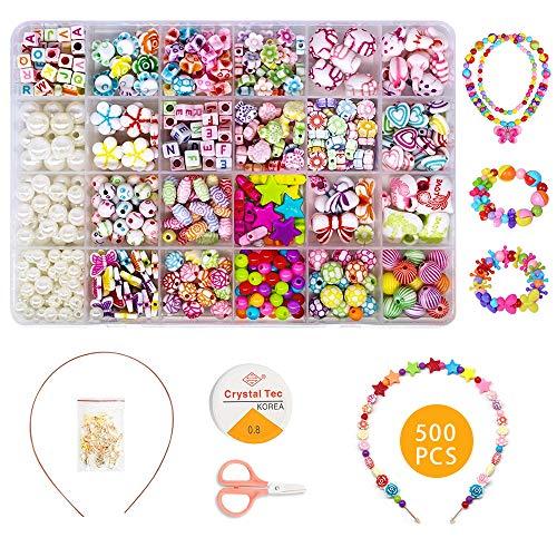 Diy Perlen Set Zum Auffadeln Kinder Schmuck Schnur Armbander