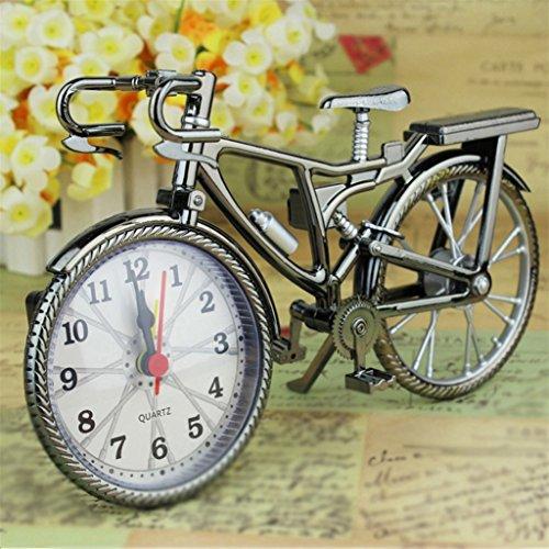 Vintage árabe numeral Retro de Bicicleta creativo reloj de alarma para decoración del hogar