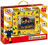 Jumbo - Puzzle de sol géant 2 en 1 - Sam le pompier (50 pièces)