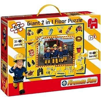 Fireman Sam 2 in 1 Giant Activity Floor Puzzle (53 Pieces)