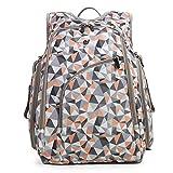ECOSUSI Wickeltasche mit Wickelauflage Wickelrucksack perfekte Alternative zum Reise-Backpack ideale Zubehör-Babytasche für Mama oder Papa beim Ausgehen