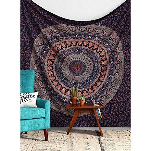 Tapices Tapicería Decoración de Pared Indio Mandala Hippie Cubrecamas Manteles de Picnic Pañuelos de Tela de Playa Paño de Sombra (Color : D, Tamaño : 150x200cm)